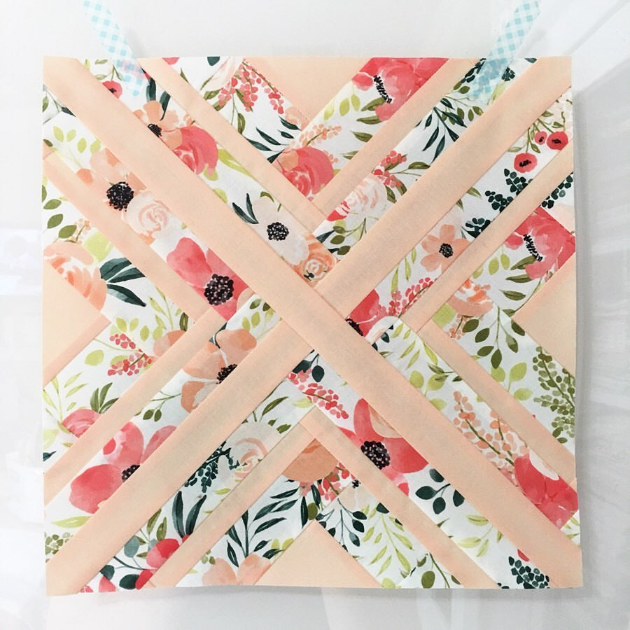 Peach and Posey Fabric