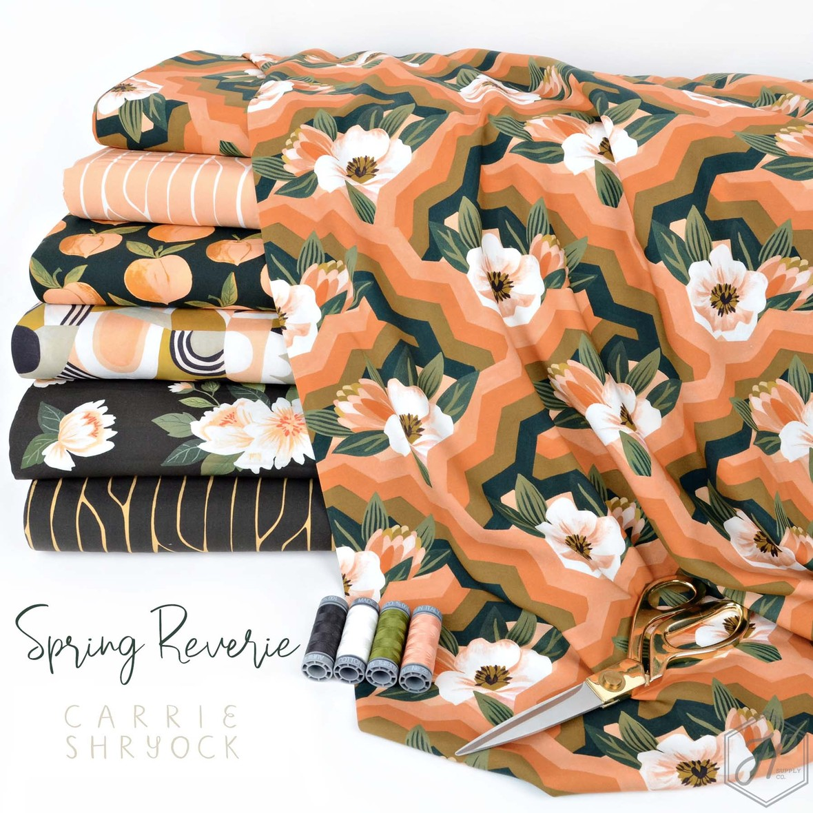 Spring Reverie Cloue 9 Fabric at Hawthorne Supply Co