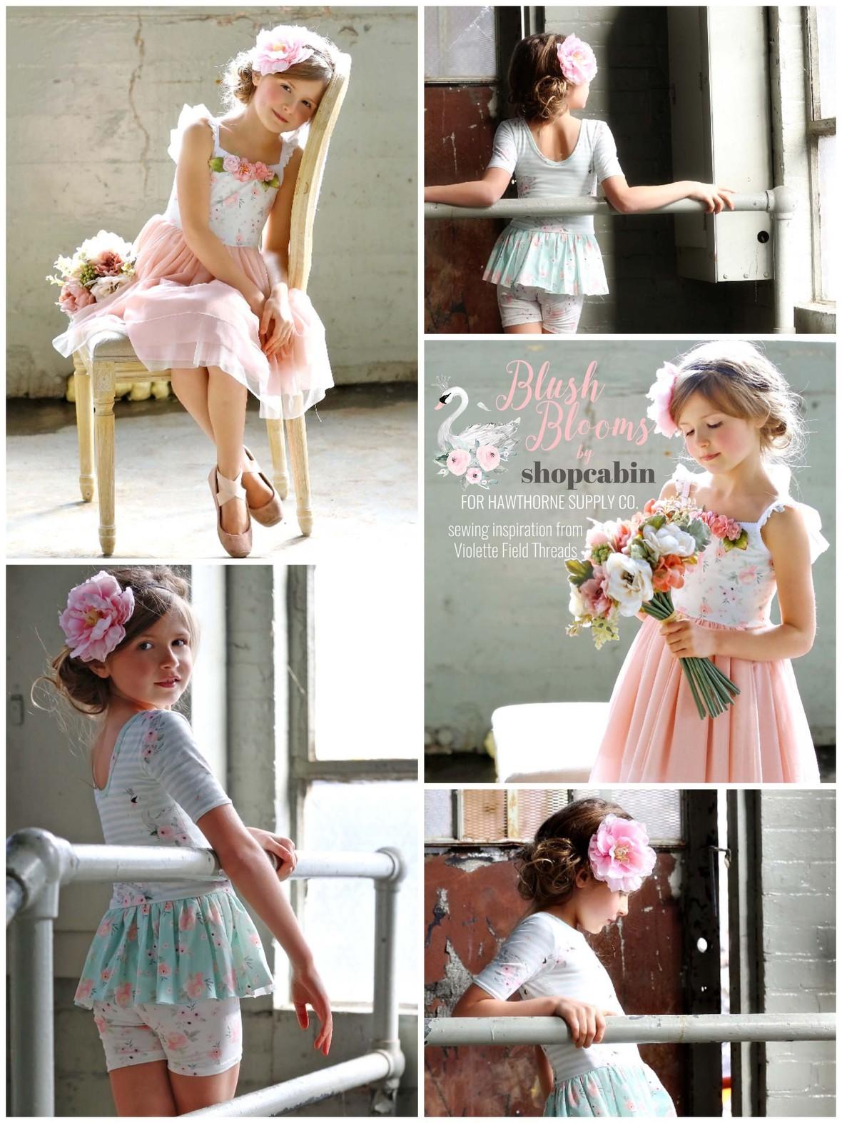 Blush Blooms Fabric Shopcabin at Hawthorne Supply Co
