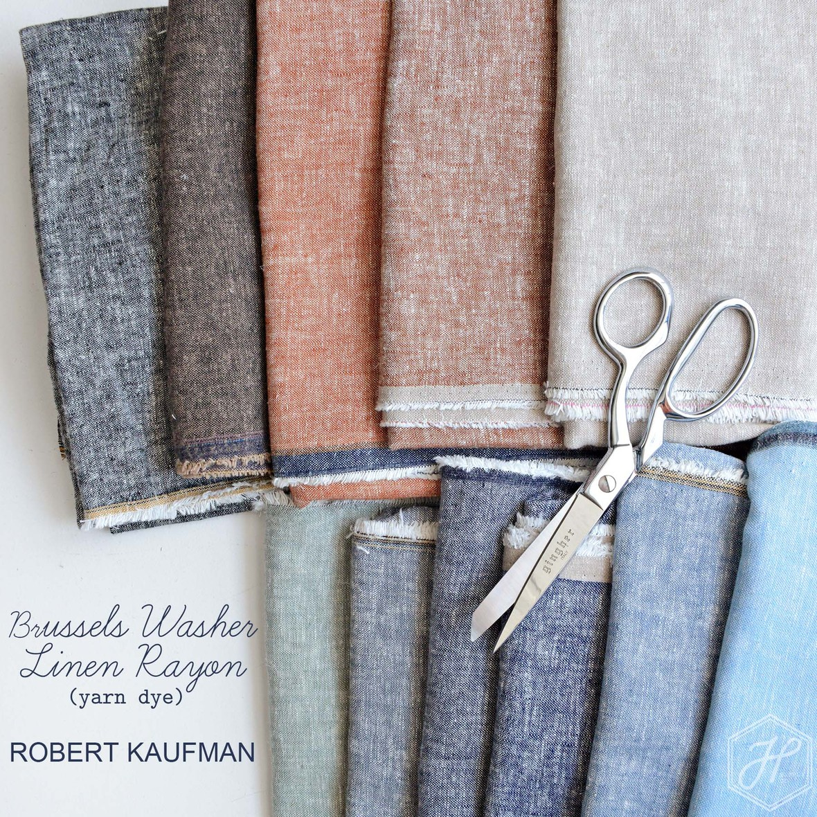 New Brussels Washer Yarn Dye from Robert Kaufman at Hawthorne Supply Co