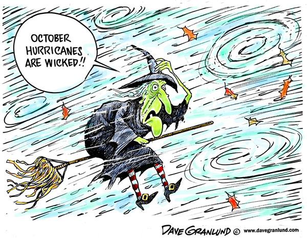 October flood cartoon