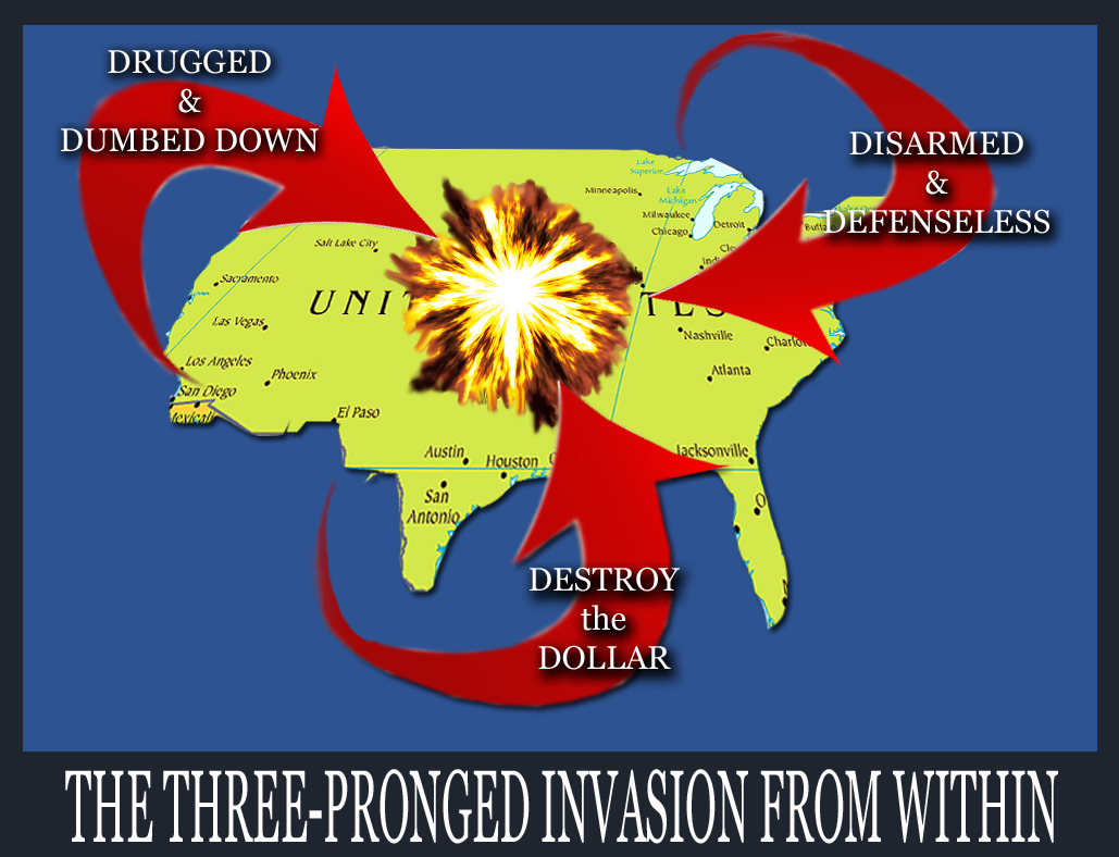 THREE-PRONGED INVASION