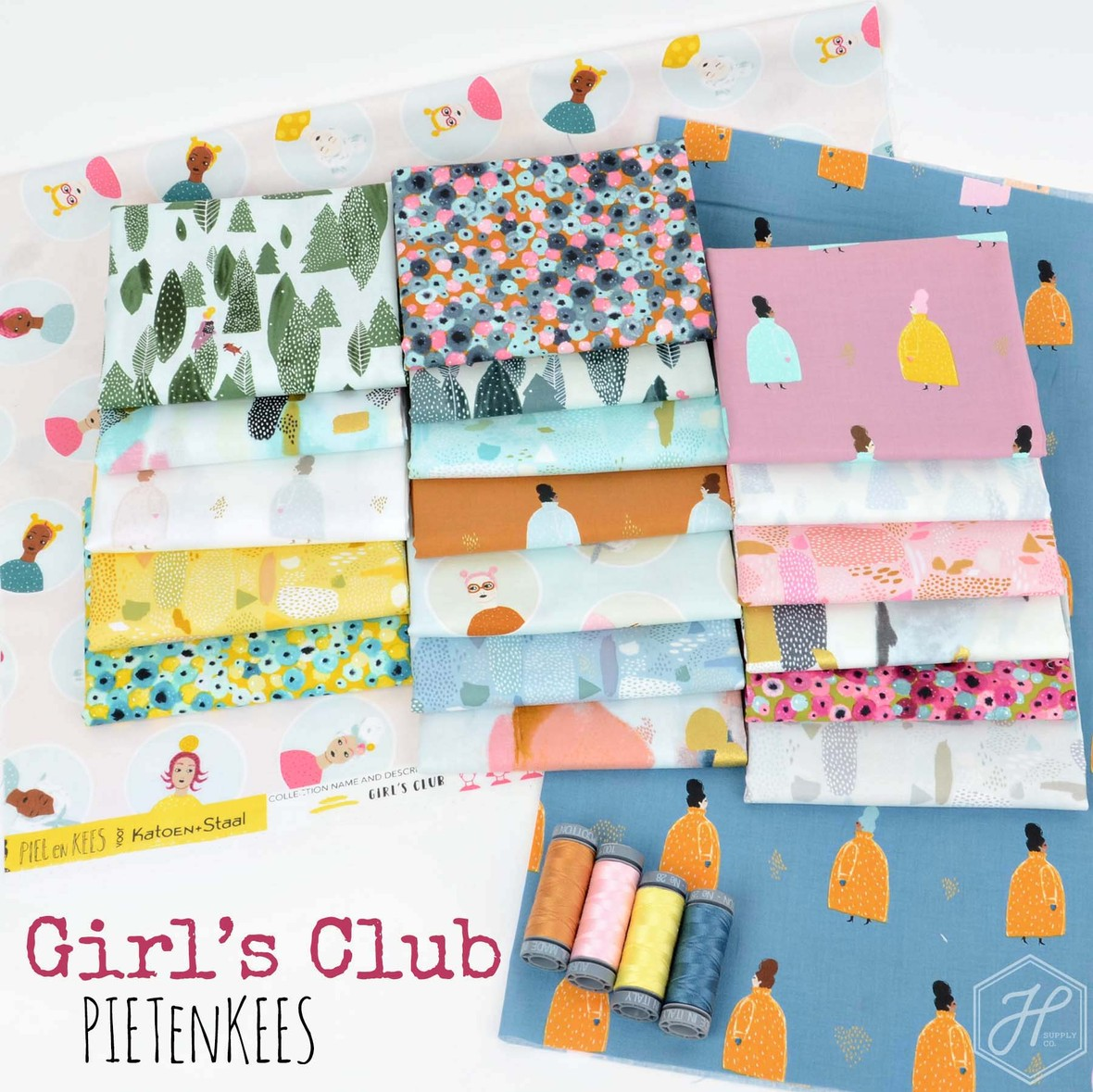 Girls Club Fabric Cotton and Steel at Hawthorne Supply Co