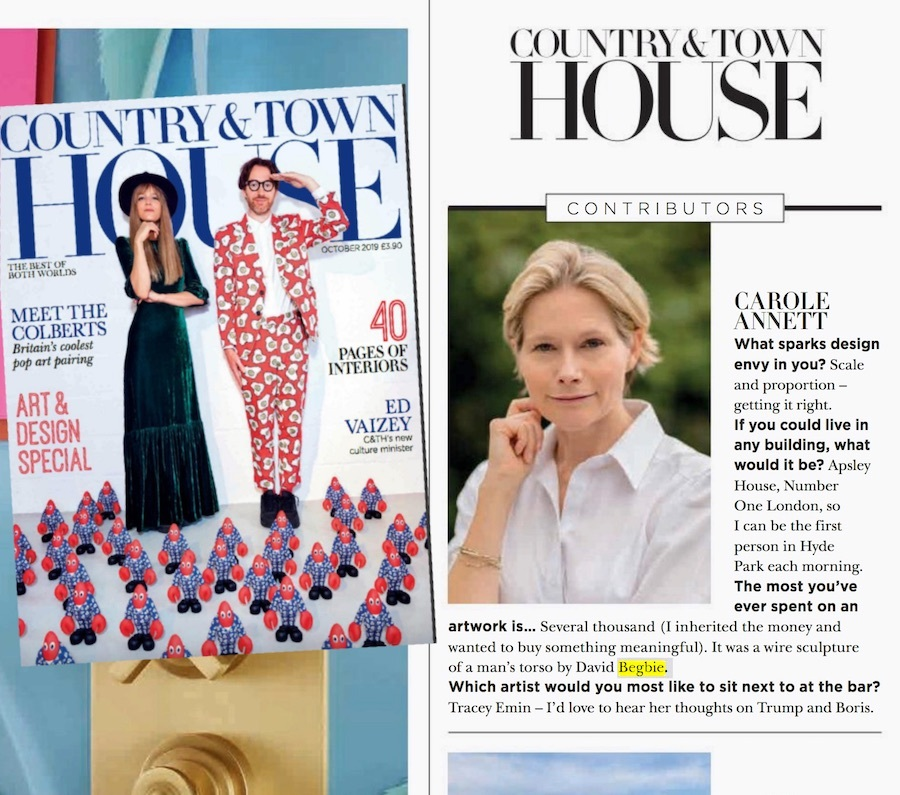 Press Article in Country Town House October 2019 Carole Annett