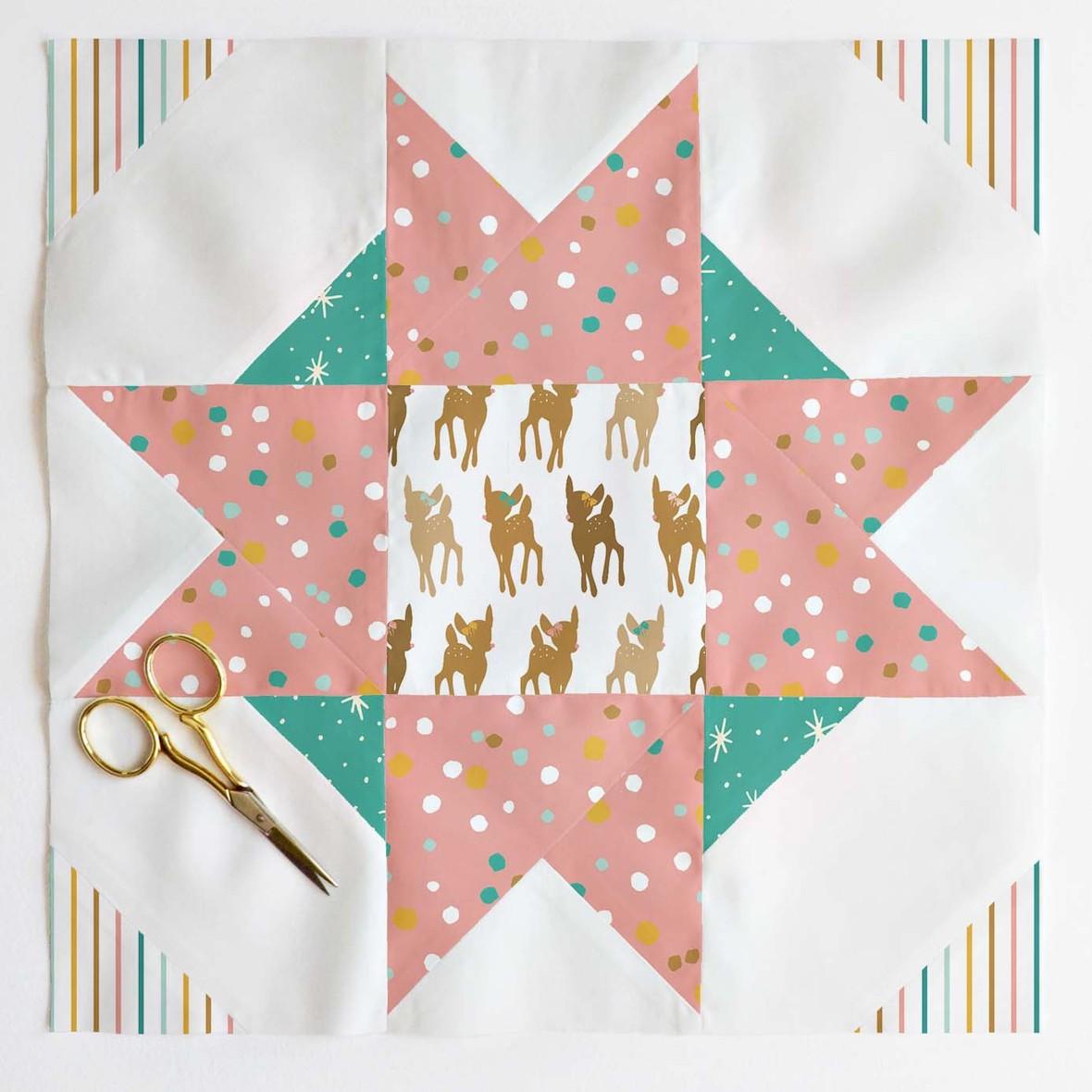 Compass Star Quilt Block 2