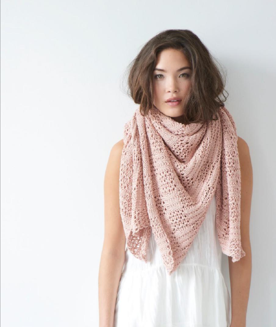 square knit wrap