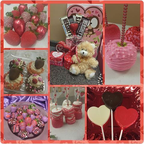 Valentines Candy Collage