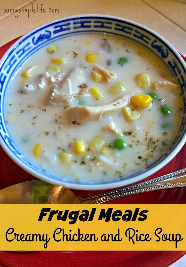 creamy chicken rice soup  1