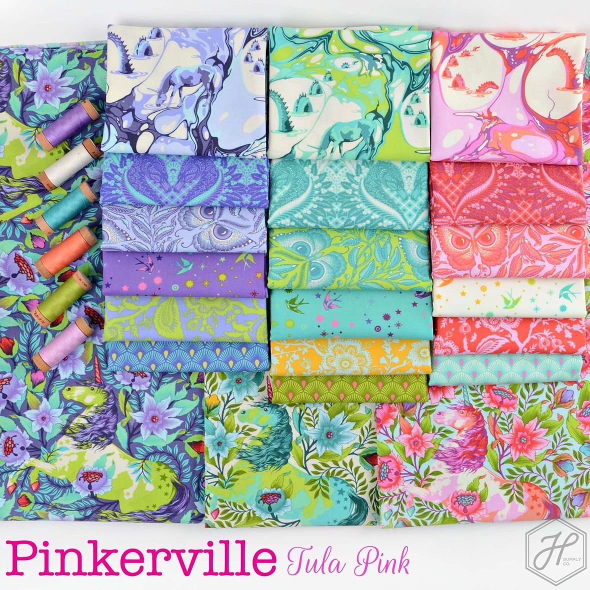 Pinkerville Fabric Poster Tula Pink at Hawthorne Supply Co