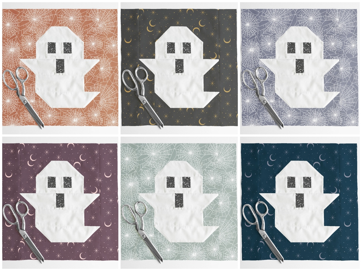 Ghost Quilt Blocks featuring Hawthorne Supply Co Ghost Stories Fabric