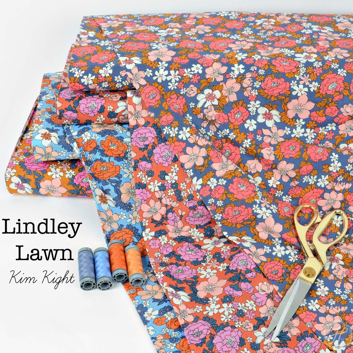 Lindley Lawn Fabric Poster Ruby Star at Hawthorne Supply Co