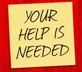 help is needed