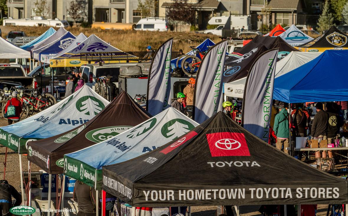 Venue tents Pits