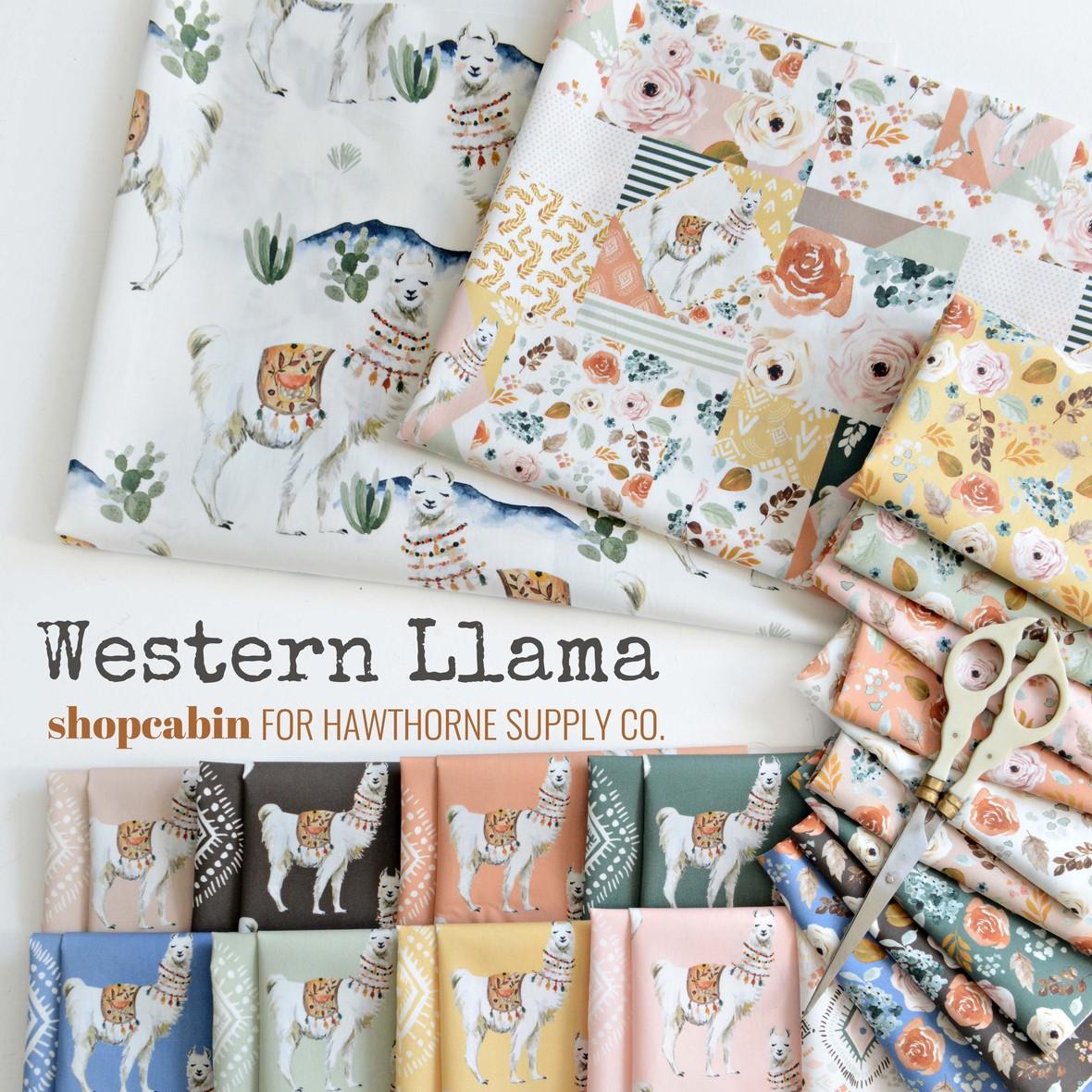Western Llama Fabric Shopcabin at Hawthorne Supply Co