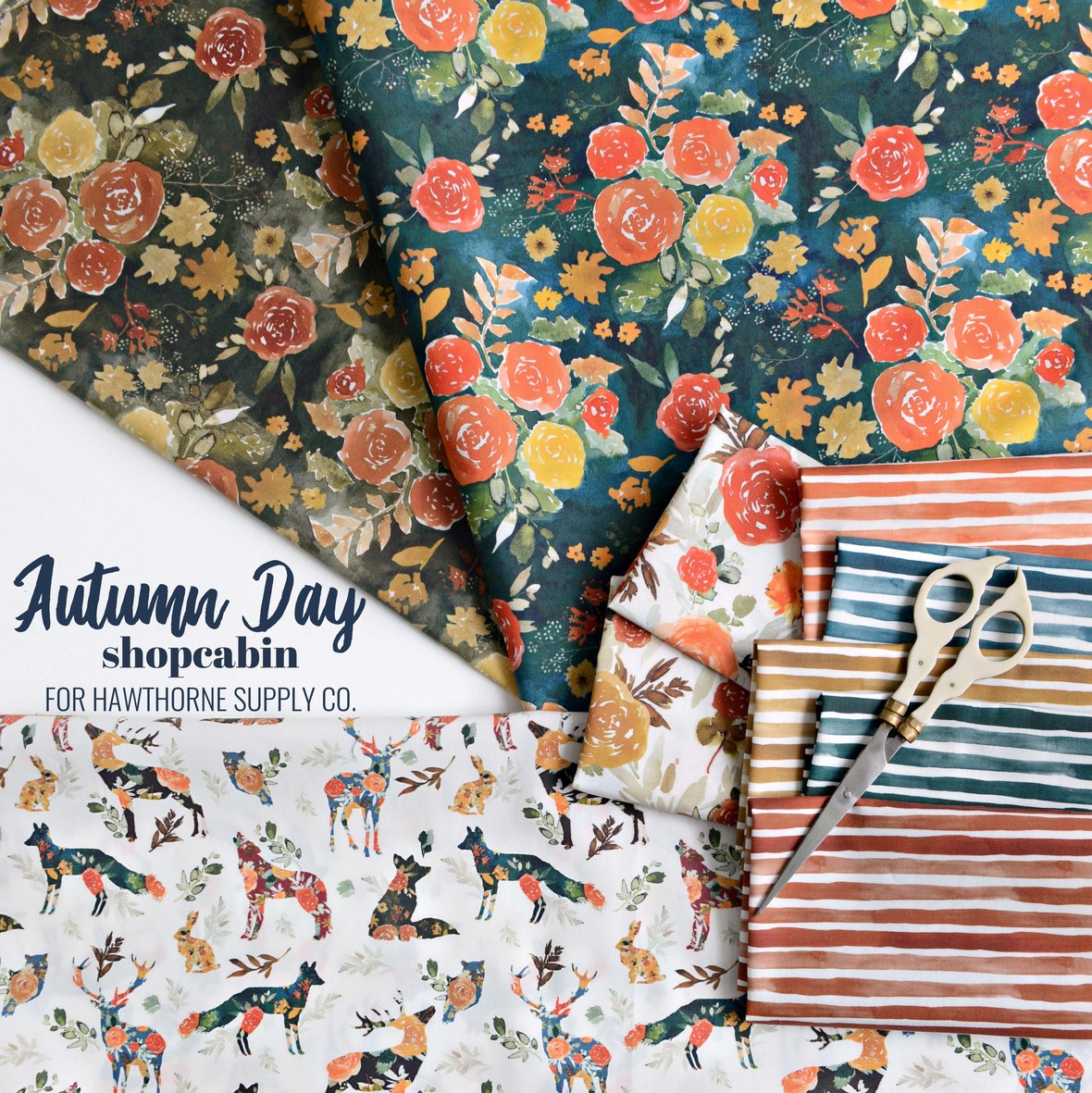 Autumn Day Fabric Poster Shopcabin at Hawthorne Supply Co