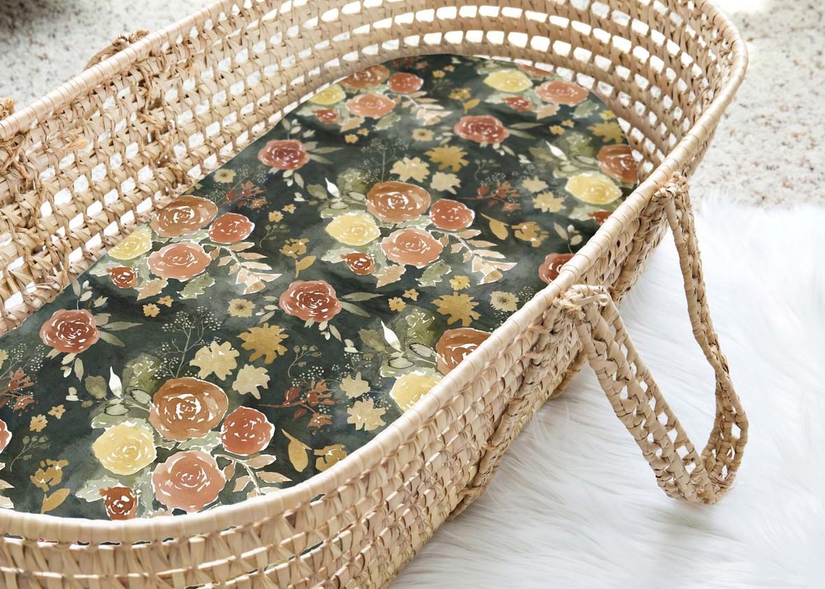 Moses Basket Autumn Florals Memory