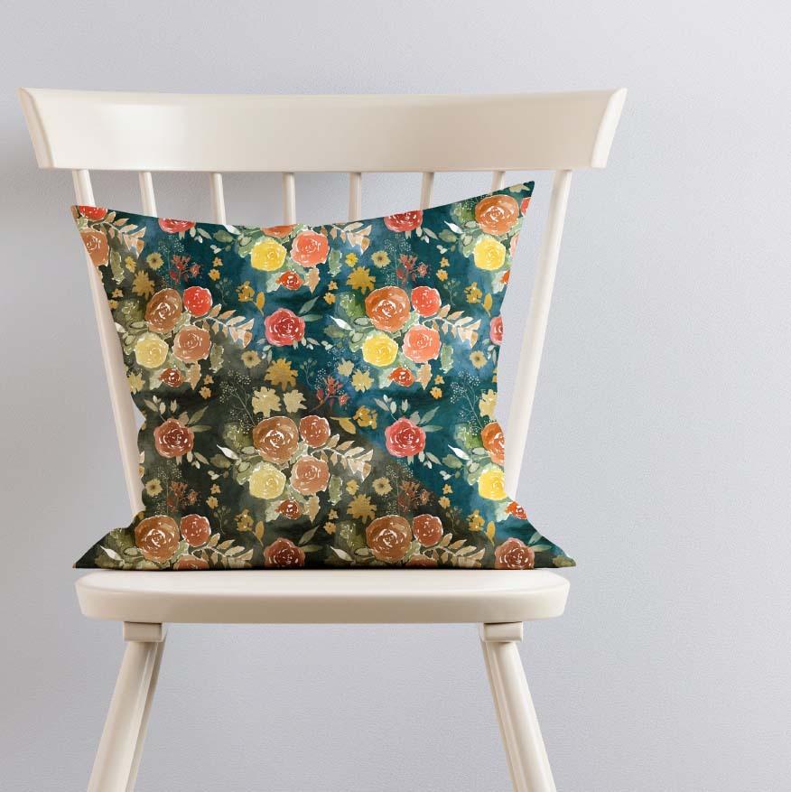 Pillow on Ivory Chair Split