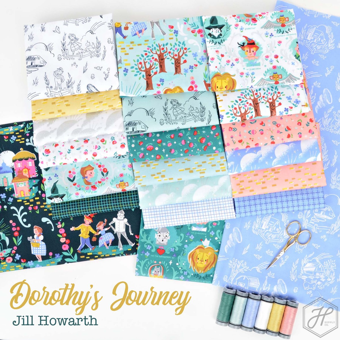 Dorothys Journey Fabric Poster Jill Howarth at Hawthorne Supply Co