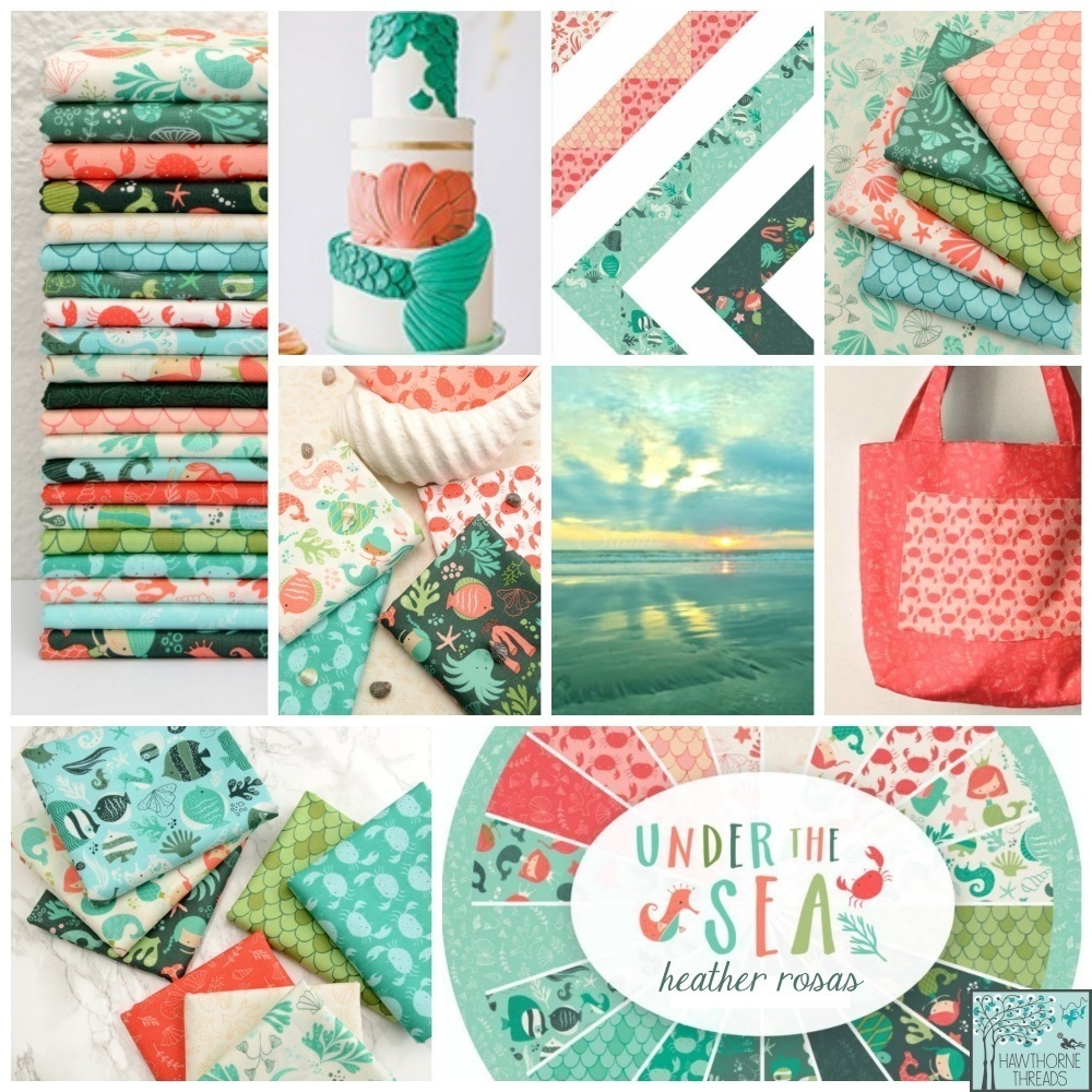 Under the Sea fabric Poster