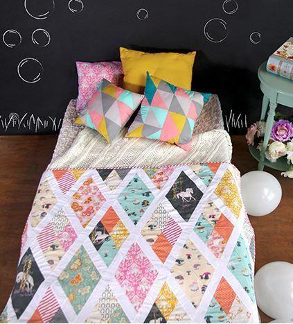 sara lawson sparkling rhombi quilt kit sewing pattern
