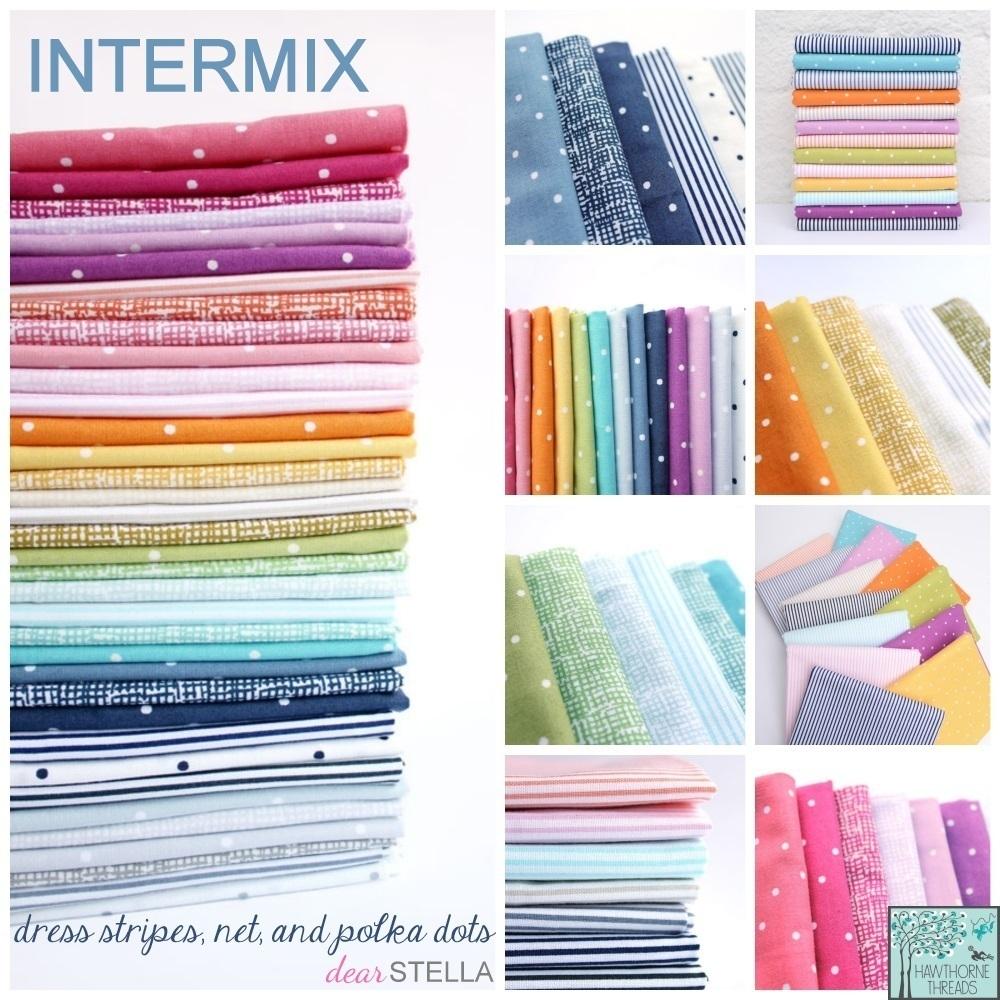 Dear Stella Intermix Dot  Dress Stripe  and Net