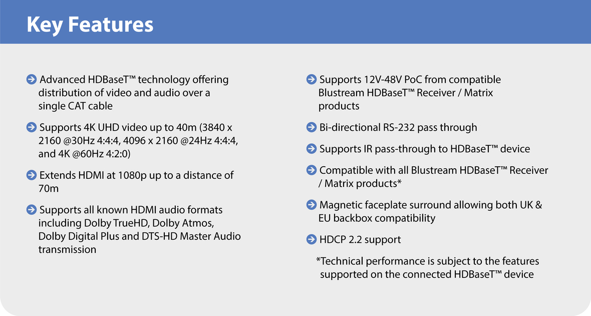 Key Features HEX11WP-TX