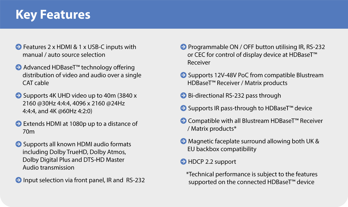 Key Features HEX31WP-TX