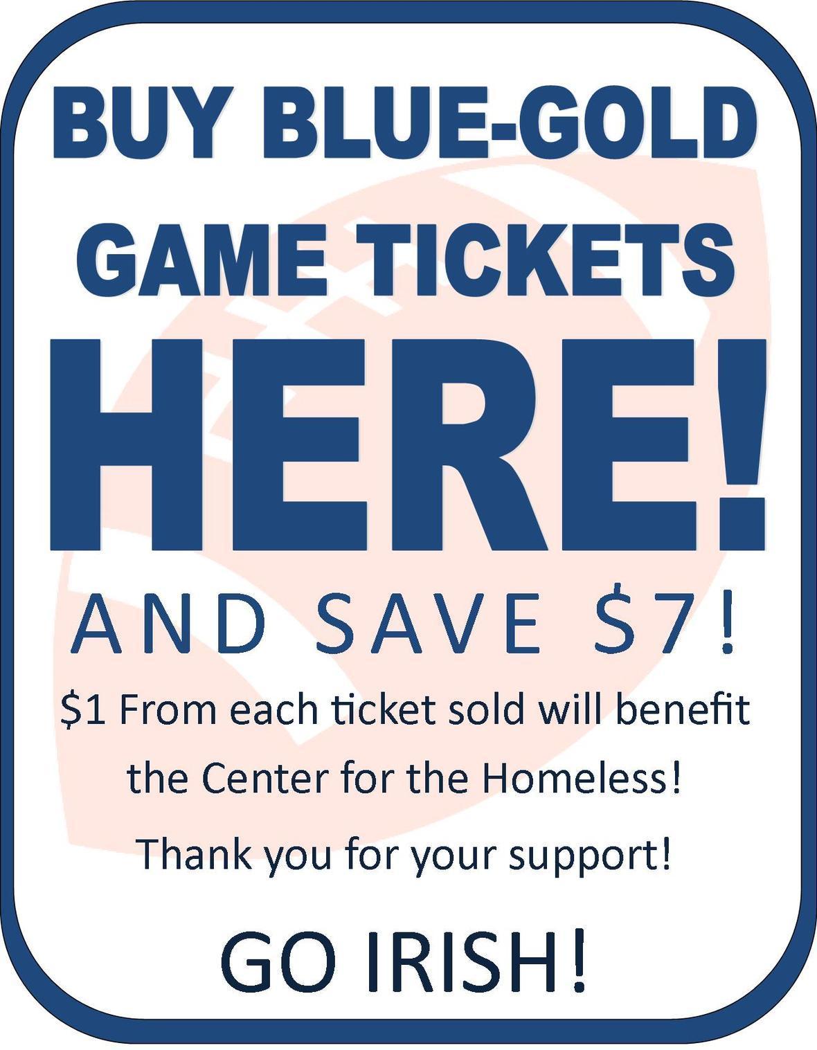 blue gold tickets