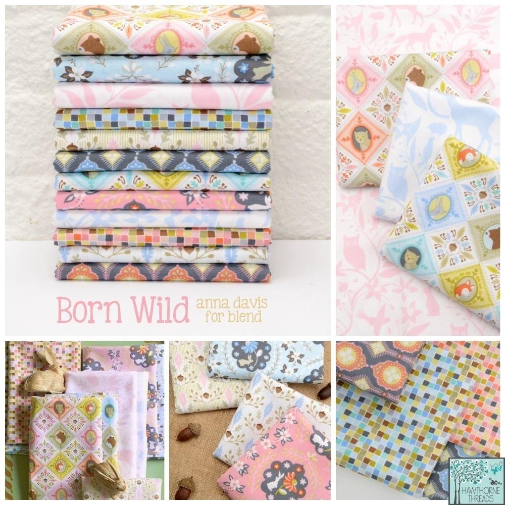 Born Wild Fabric Poster