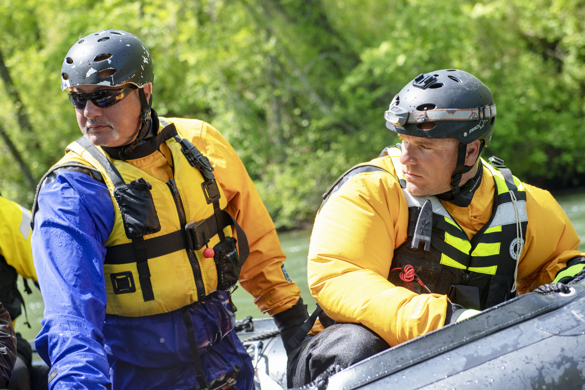 The Chasing Frames Show with Tamara Lackey Episode 03 Swift Water Rescue trainees during exercise