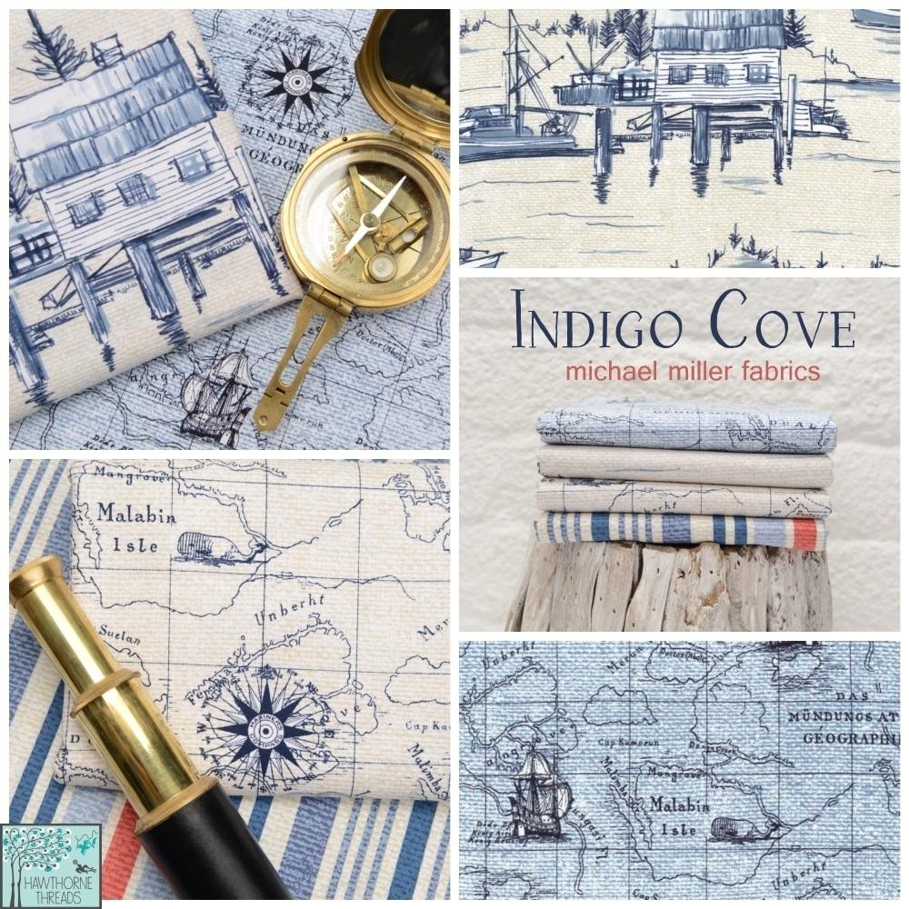 Indigo Cove Fabric Poster