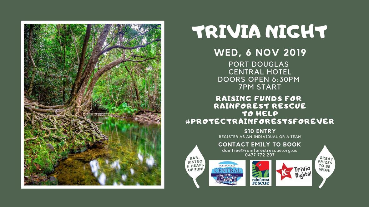 rainforest trivia night 2019