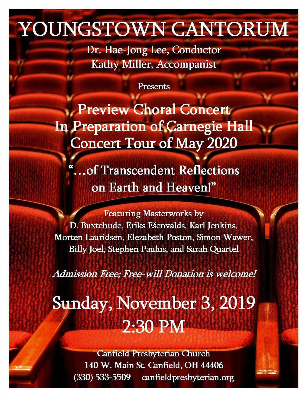 youngstown cantorum concert