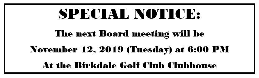 board meeting update