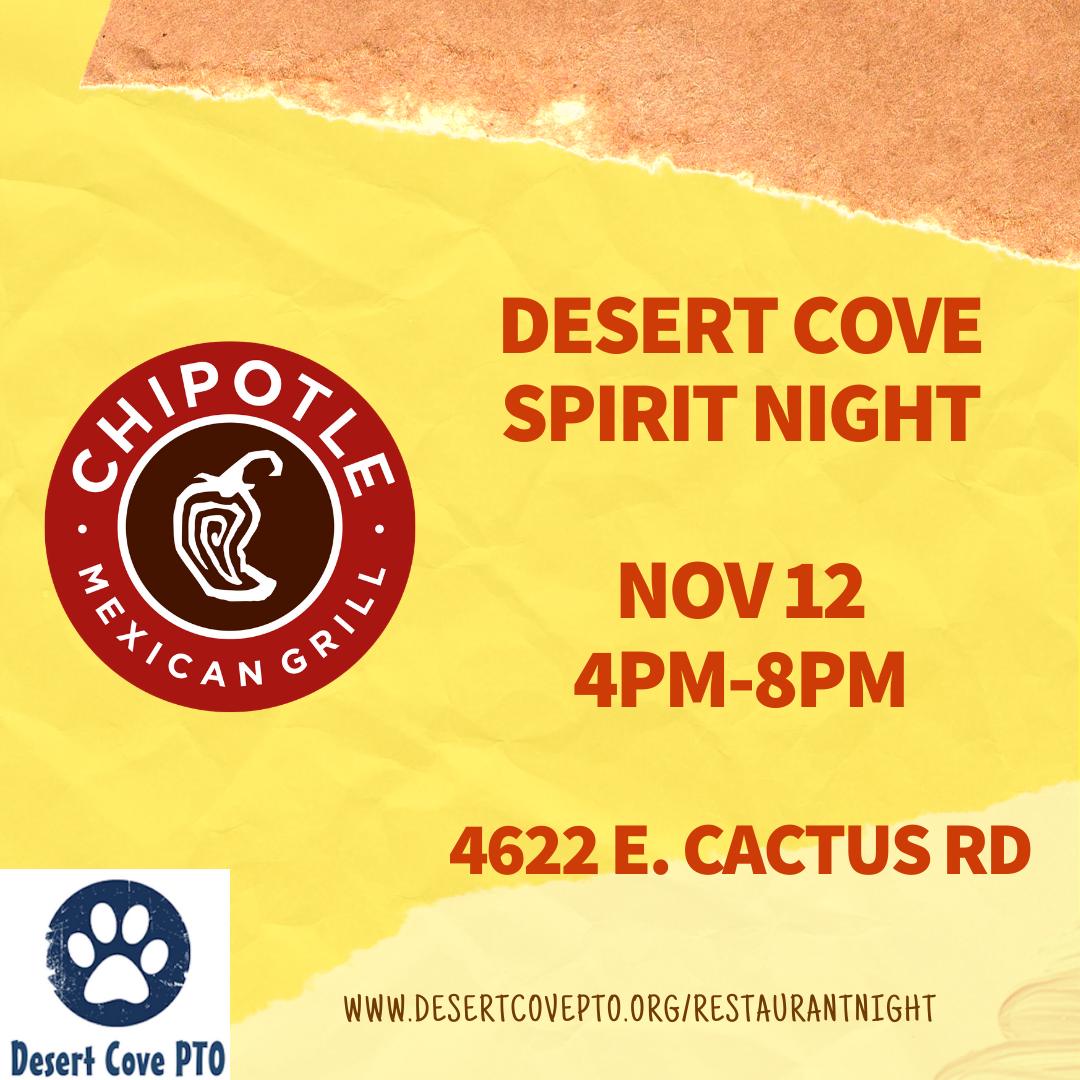 Nov 12 DESERT COVE SPIRIT NIGHT