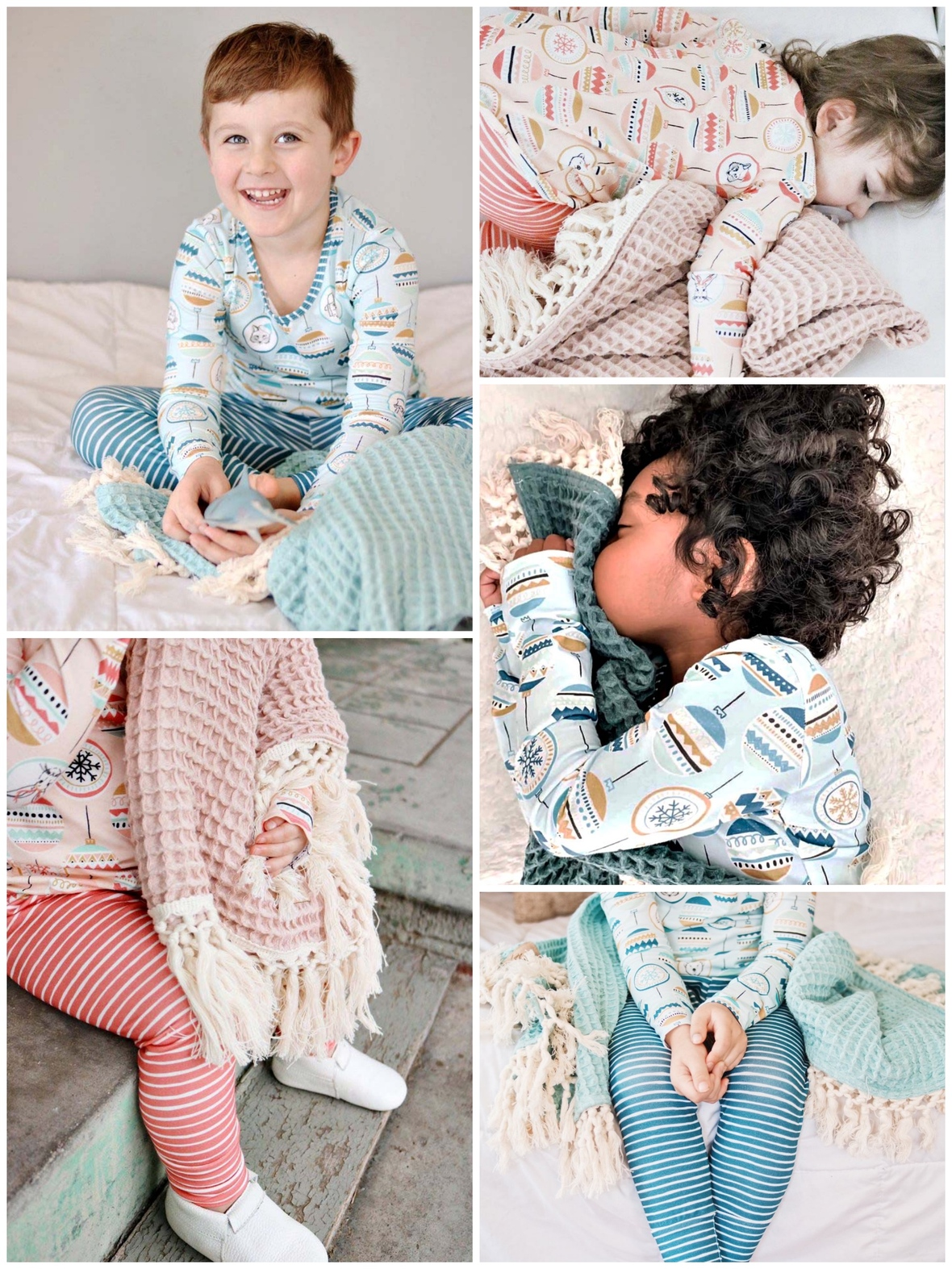 Oh What Fun Knit Christmas Pajamas Made By Molly and Hawthorne Supply Co.