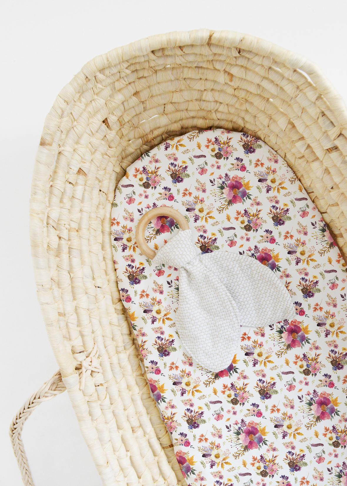 Bassinet Little Florals White
