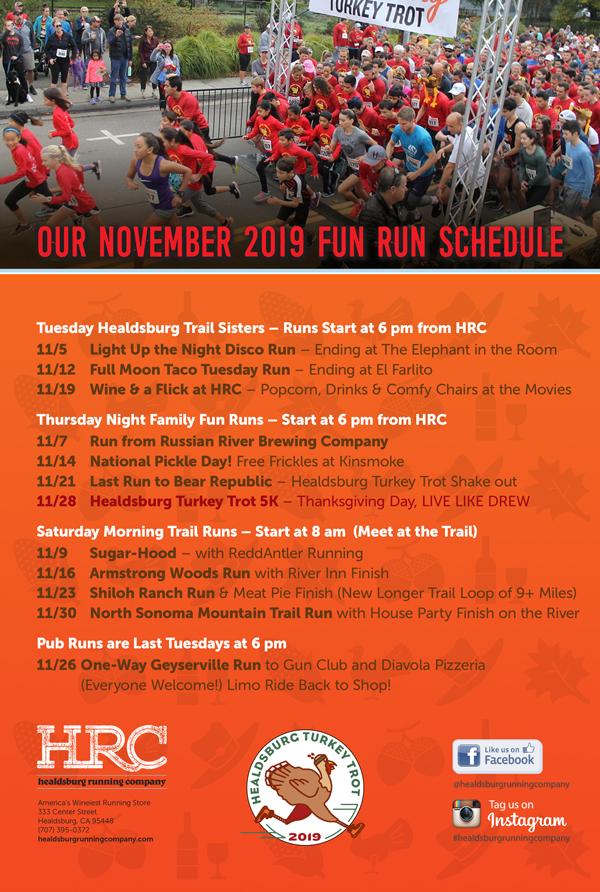 nov 2019 run schedule
