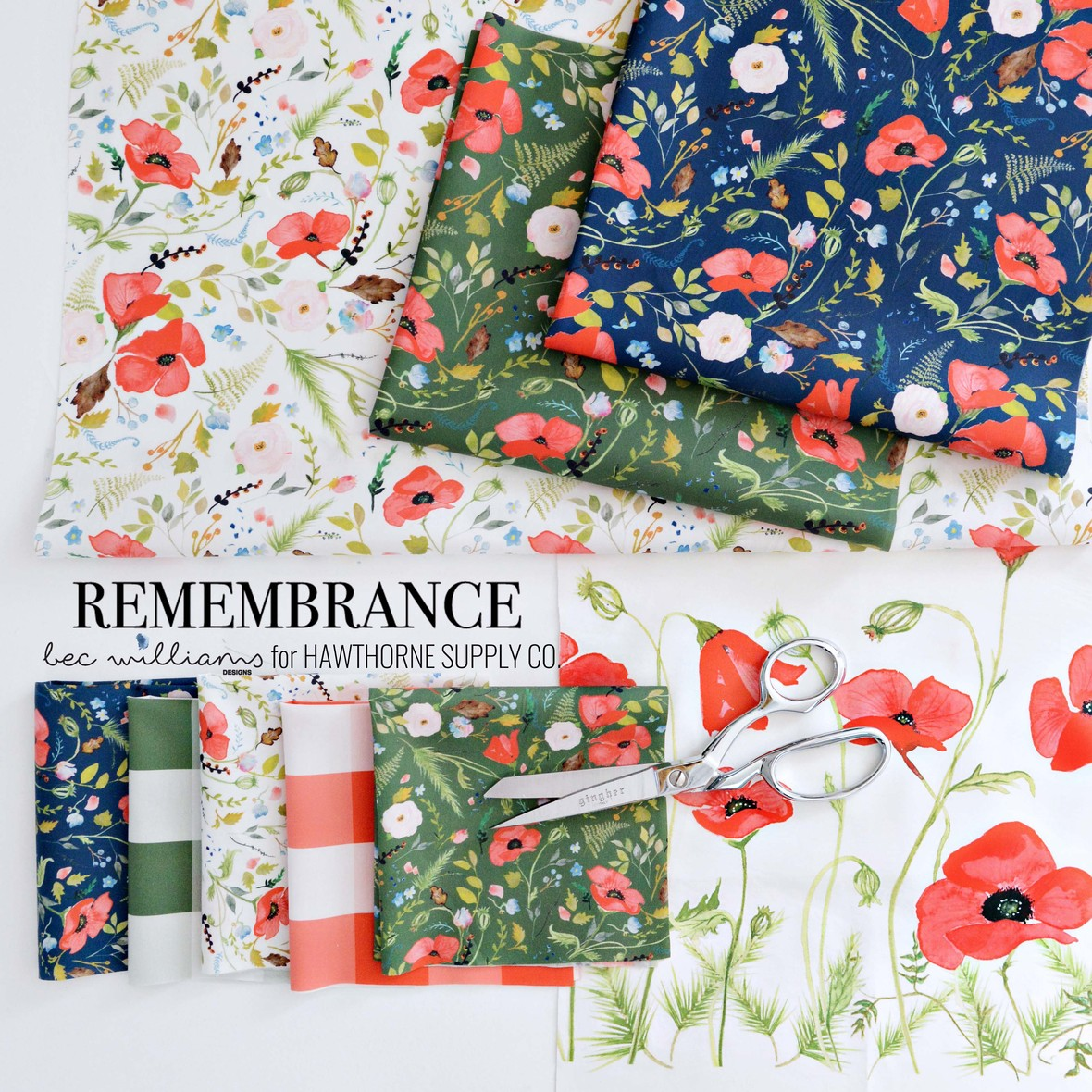 Remembrance Fabric Poster Bec Williams for Hawthorne Supply Co