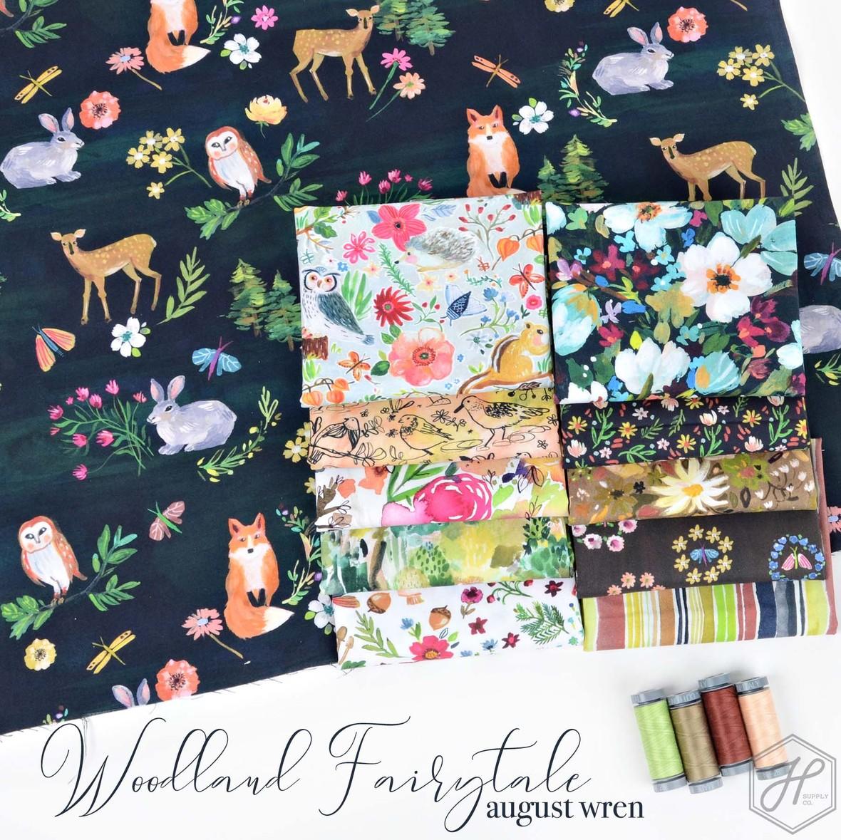 Woodland Fairytale August Wren for Dear Stella at Hawthorne Supply Co