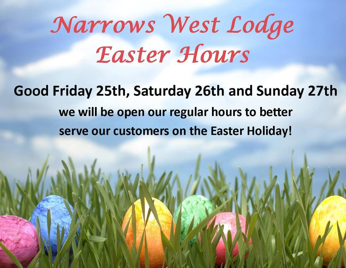 2016 Easter Hours