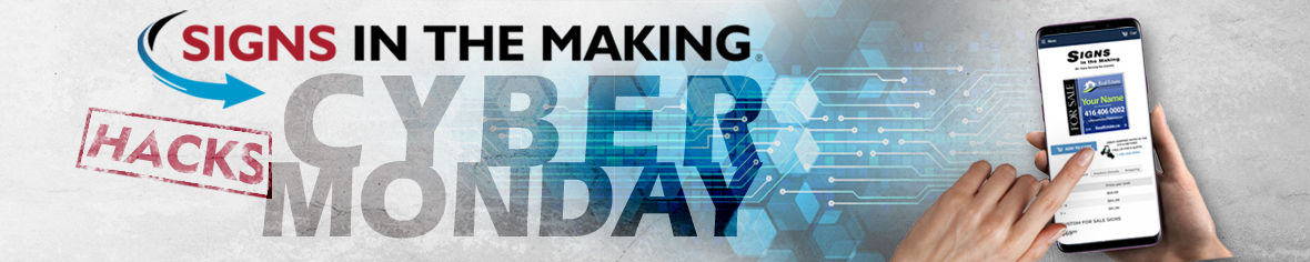 Cyber Monday Signs In The Making Newsletter Banner