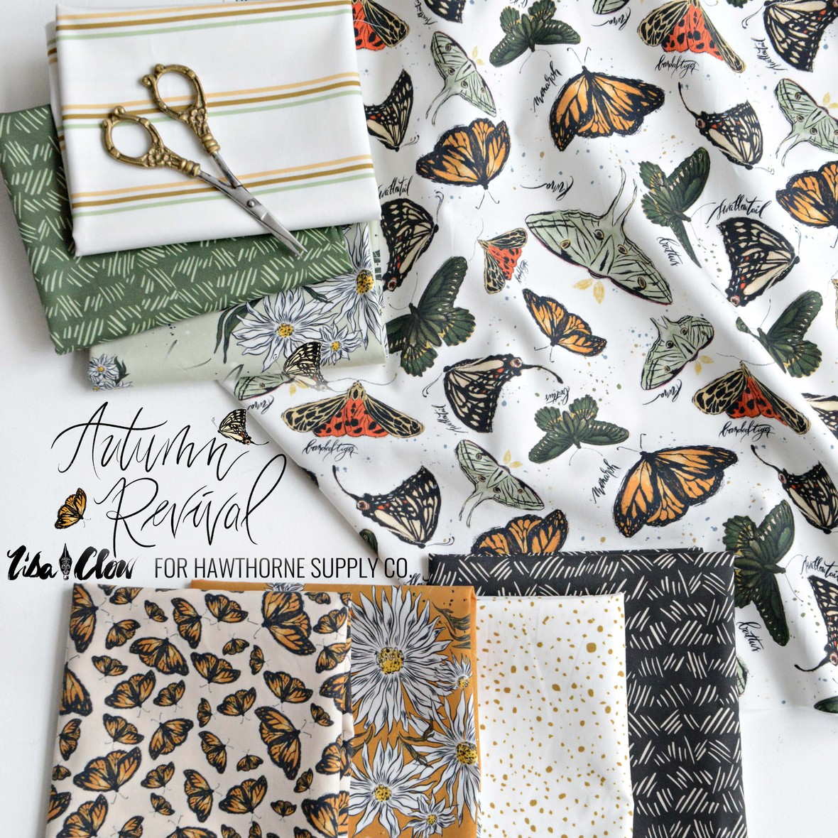 Autumn Reviva fabricl from Lisa Clow at Hawthorne Supply Co.