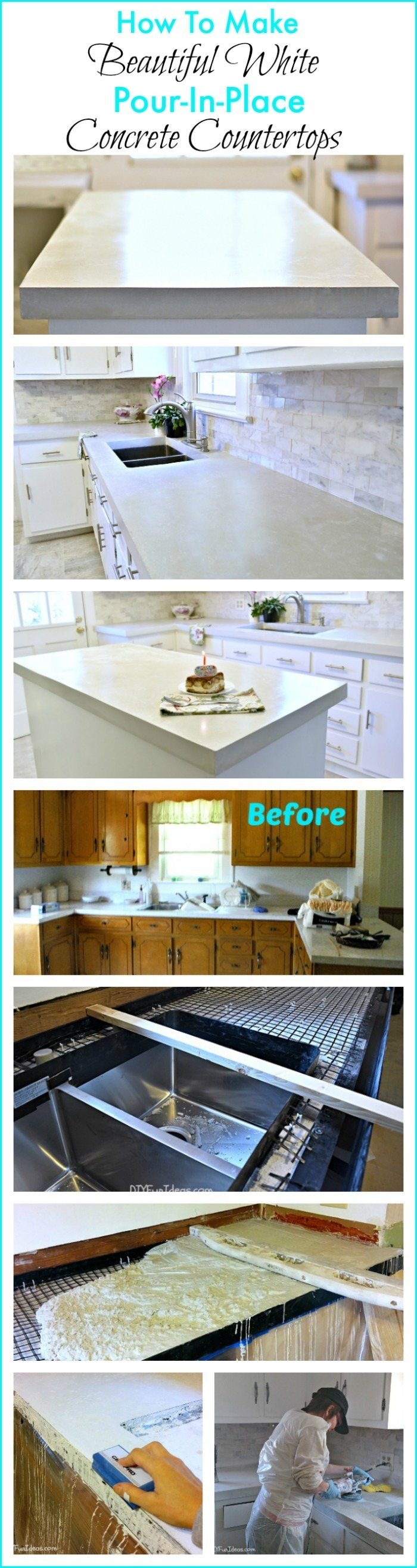 Gorgeous Diy Pour In Place Concrete Countertops And A Limited Time