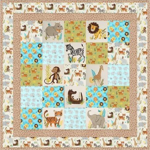 WildAdventure SafariPark Nature 1 Free quilt Pattern on RK site