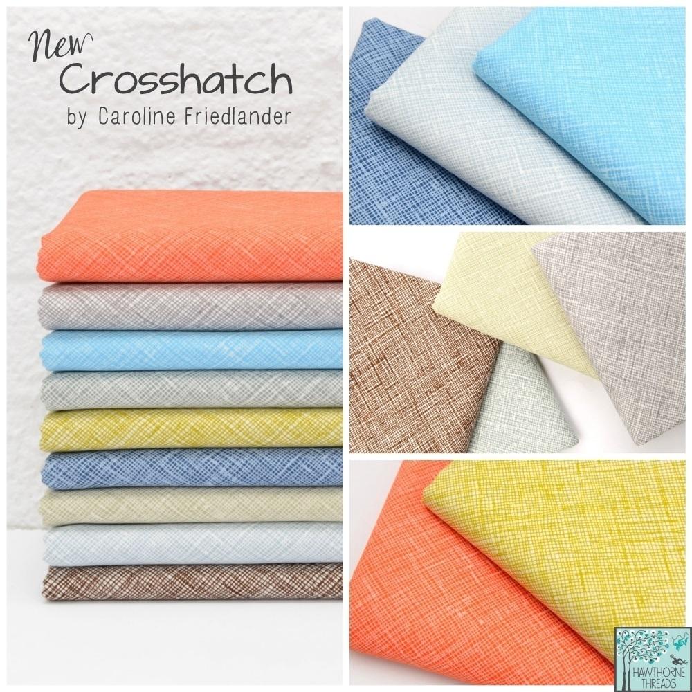 New Crosshatch fabric poster