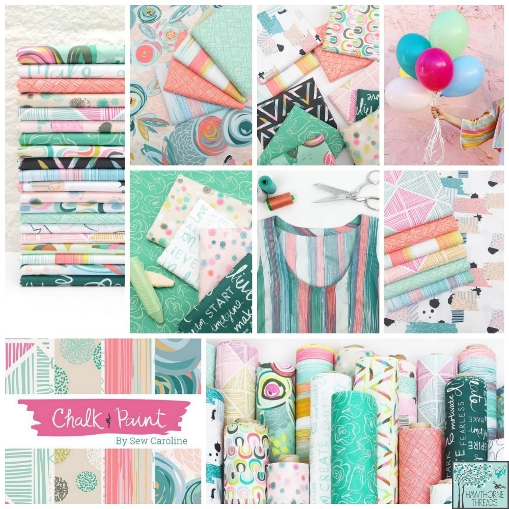 Chalk and Paint Fabric Poster
