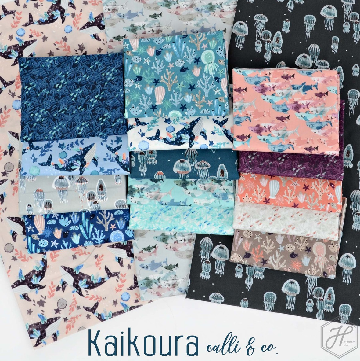 Kaikoura fabric poster Cotton and Steel at Hawthorne Supply Co