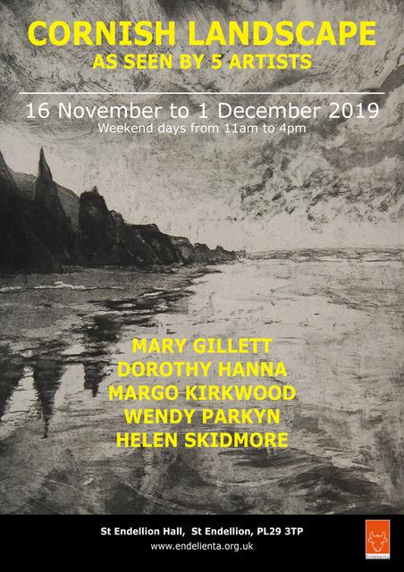 2019 CORNISH LANDSCAPES poster
