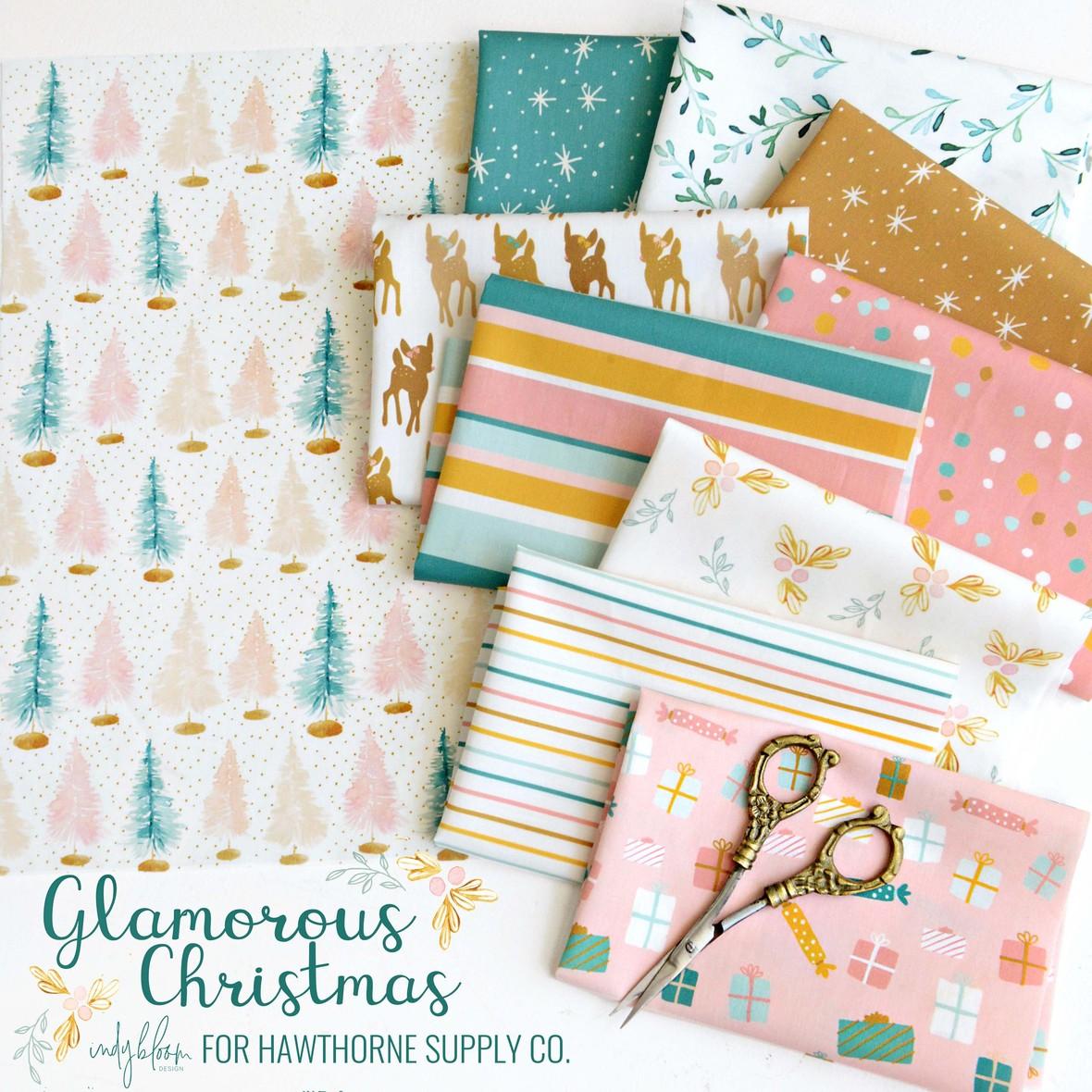 Glamorous Christmas Fabric Indy Bloom at Hawthorne Supply Cob